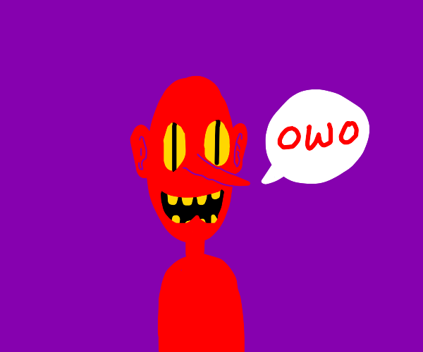 Terrifying red man owo's at you