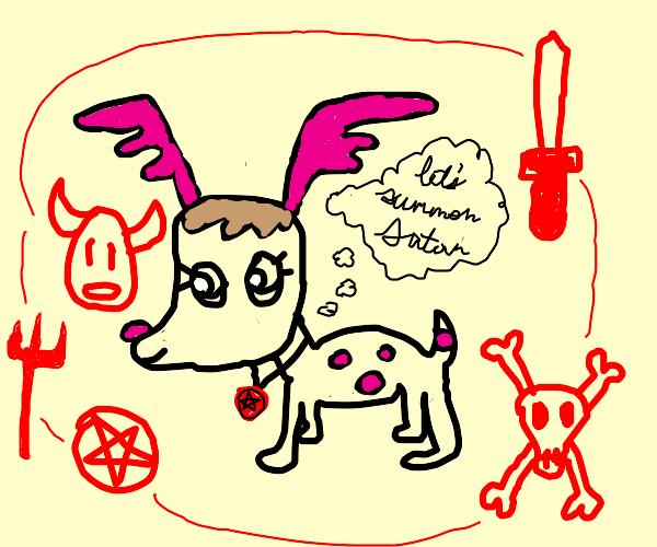 Demonic deer summoning circle