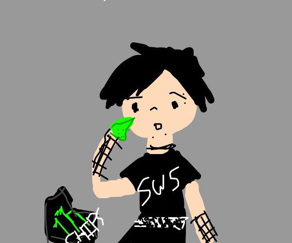 Emo consuming monster chips