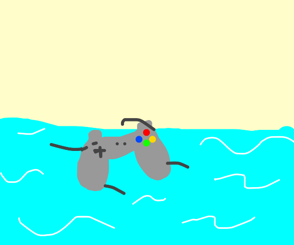 Controller goes swimming