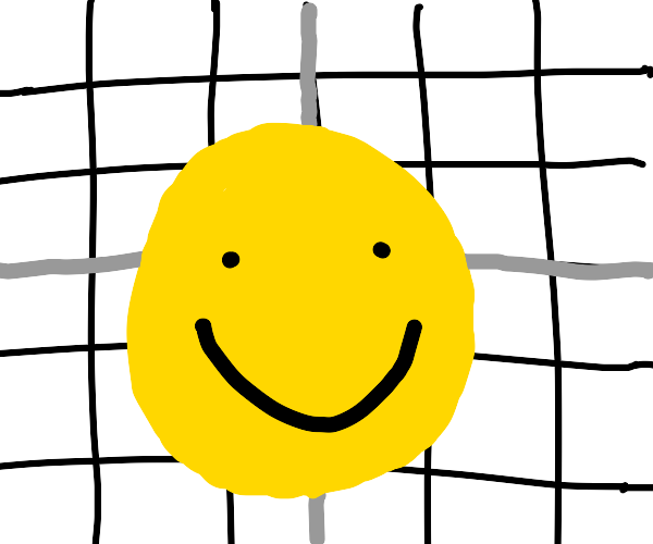 A circle graph with a smiley face by it
