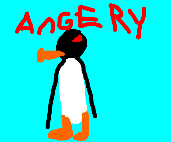 pingu is very angry