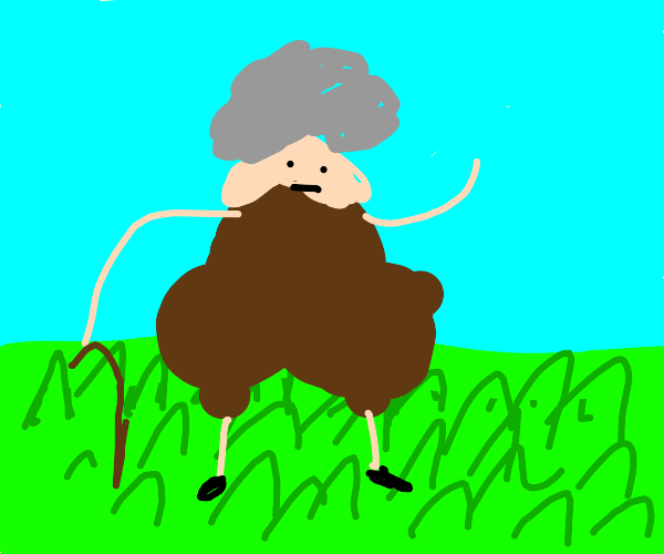 thicc grandma walking through grass