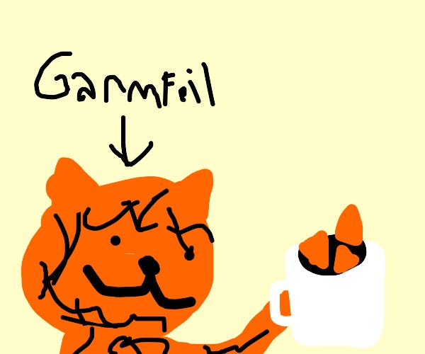 garfield loves mug of doritos
