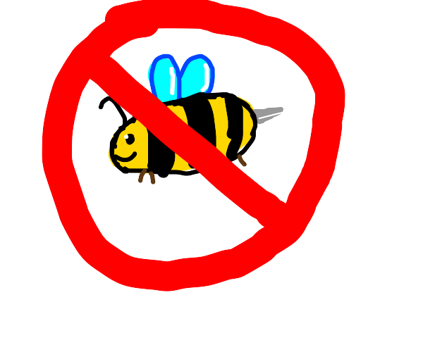 No bees allowed sign