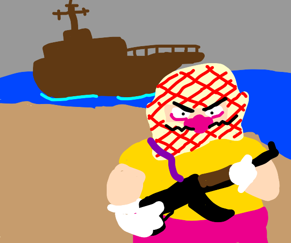 Wario becomes a Somali pirate