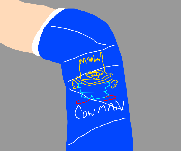 A weird drawing is on your orthopedic cast
