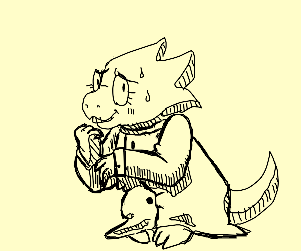 Dr. Alphys from the Popular RPG Undertale