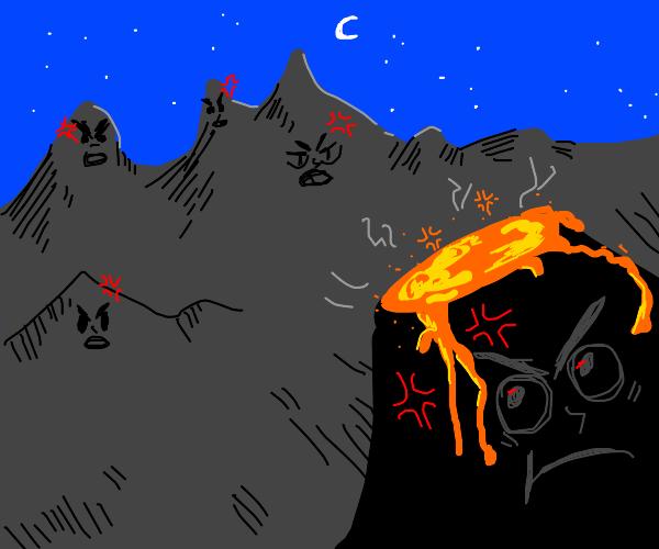 Angry mountains