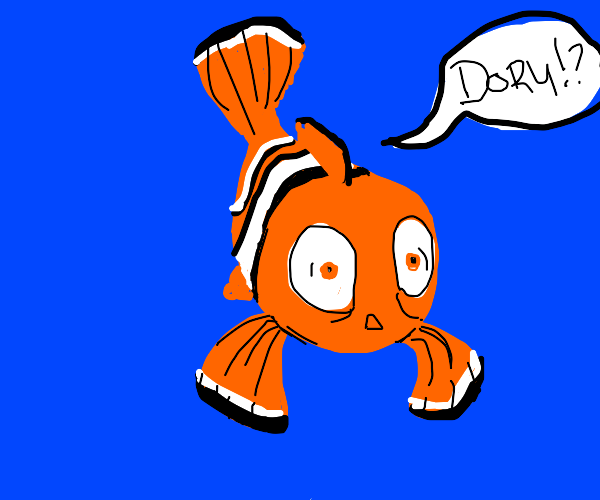 Nemo's dad trying to find dory