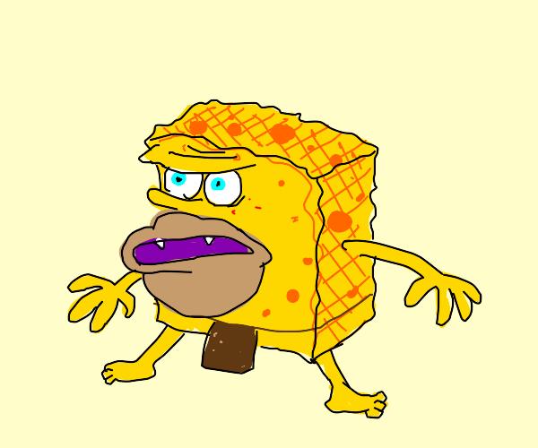 Spongebob as a caveman meme - Drawception