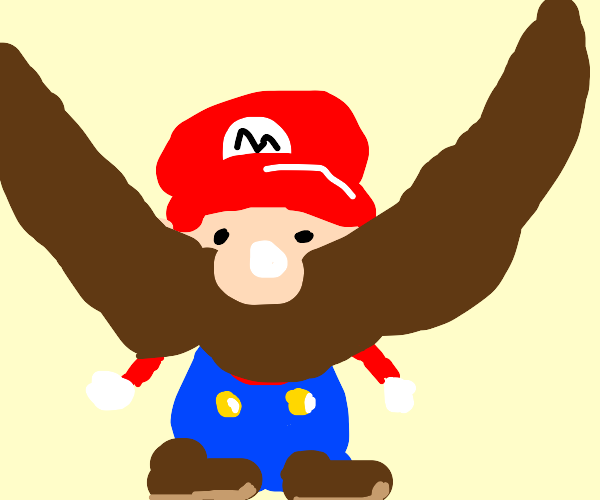mario with extra large mustache