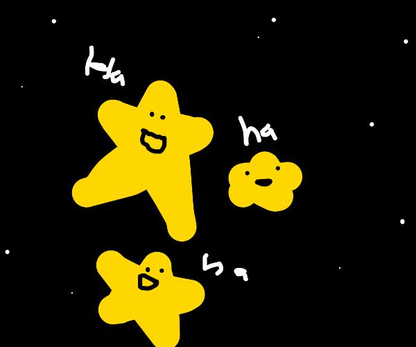 Stars laughing