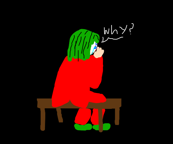 Joker cries while asking 'why?'