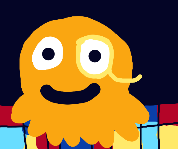 Educated Octopus celebrates on Disco floor