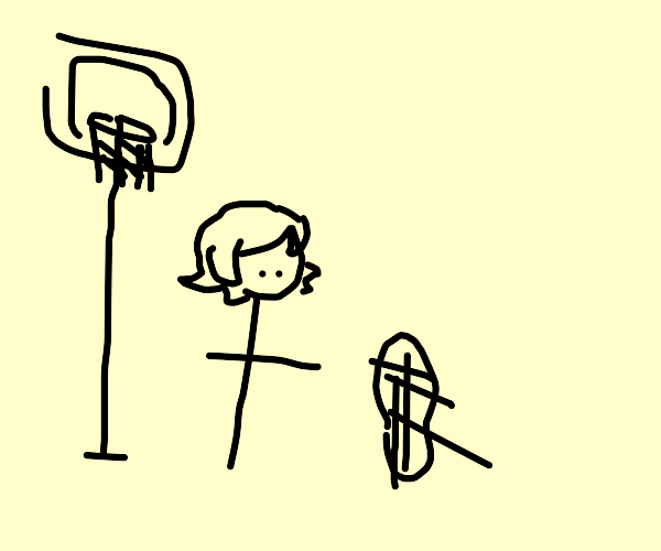 peanut in a basketball court