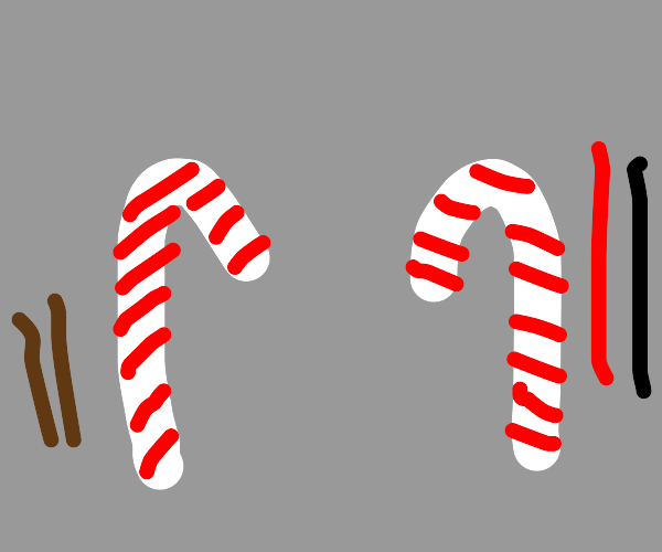 Cinnamon candy canes vs licorice candy canes.