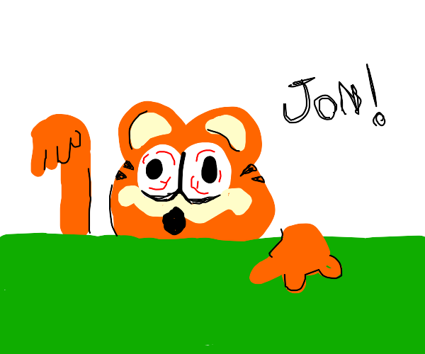 Garfield is a hot mess.
