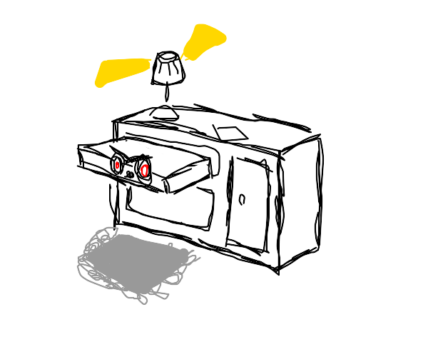 A menacing drawer
