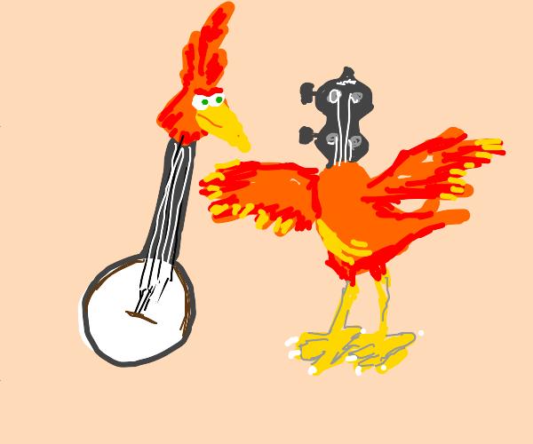 Banjo with Kazooie's head and vice versa