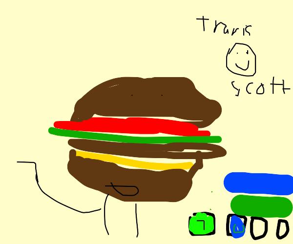 travis scott fortnite burger w extra epic dip