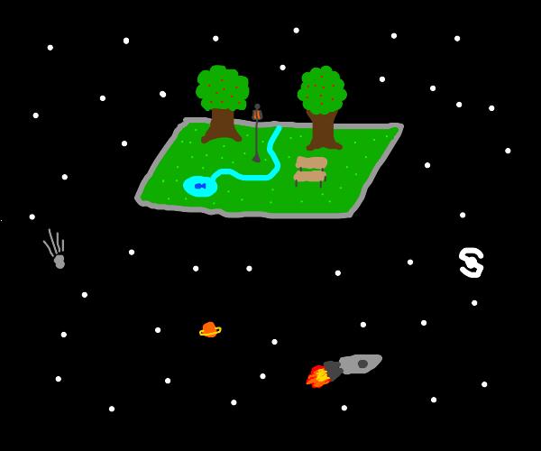 A literal space park