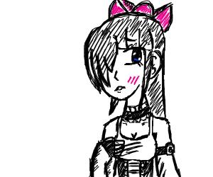 abashed anime girl
