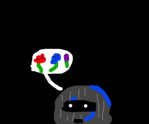 Burglar imagining Flowers