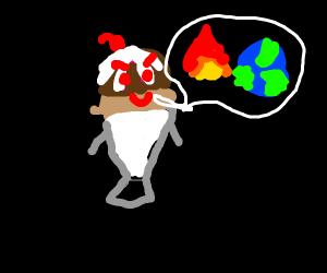 evil Icecream sundae :P my fave flavor