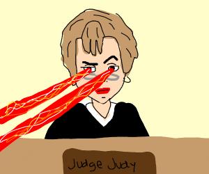 Judge Judy laser eyes people not in order