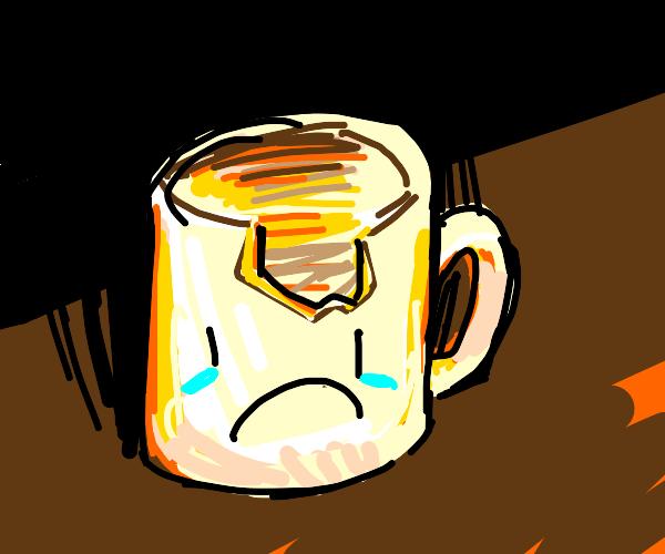 Sad broken mug