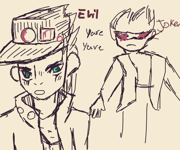 Crossover Ep: Evil Jotaro kills the Joker