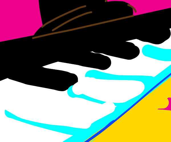 Piano wearing a Top Hat