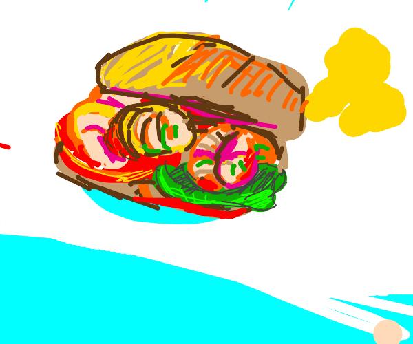 Shrimp sandwich