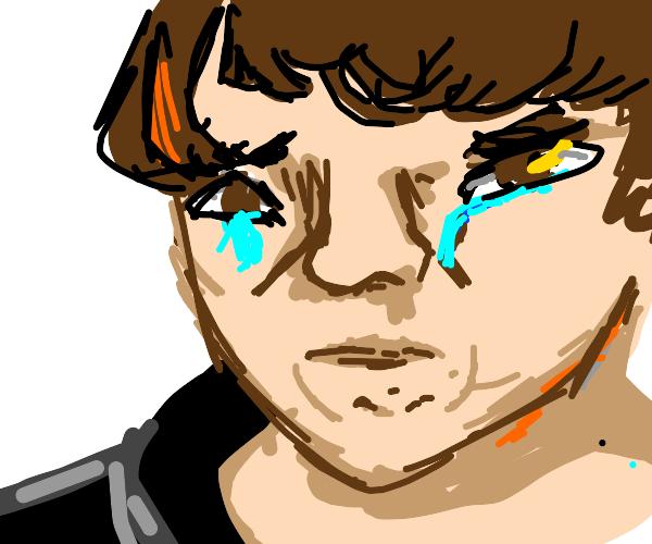 chubby kid crying