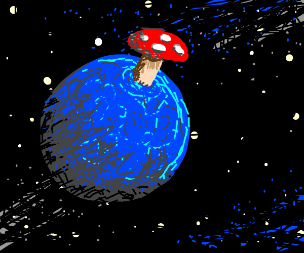 mushroom on a planet