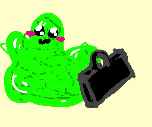 germ with a briefcase