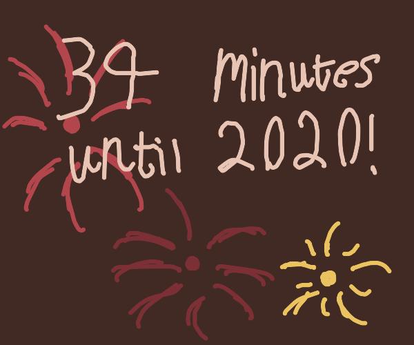 37 minutes until 2020!