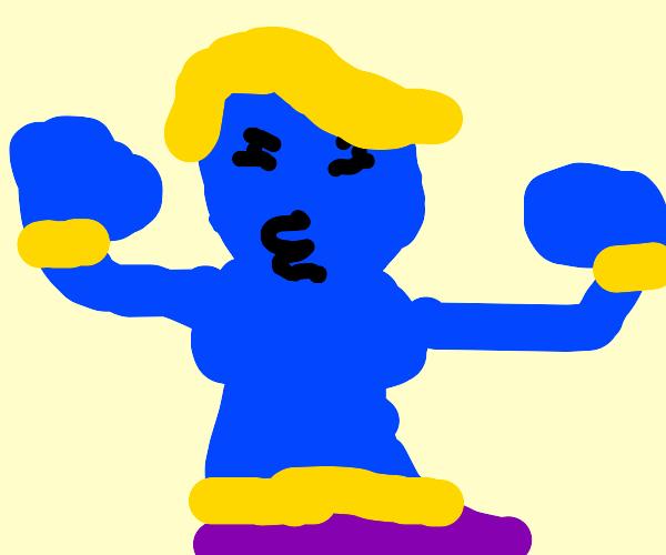 Donald Trump as a genie
