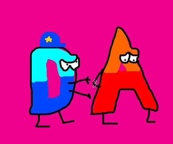 Drawception arrests the letter A