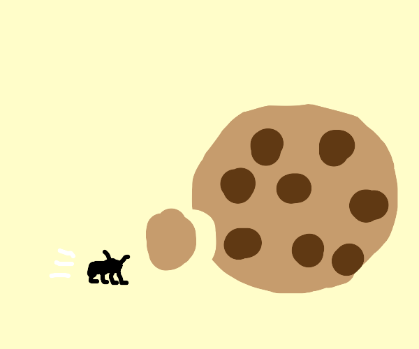 Scurrrying ant for cookie