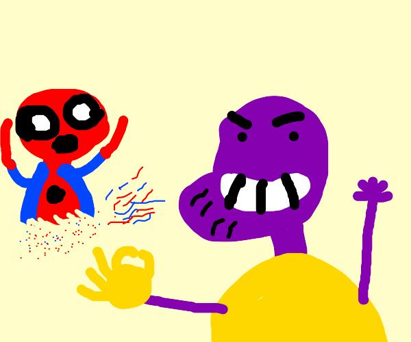Thanos snaps Spiderman