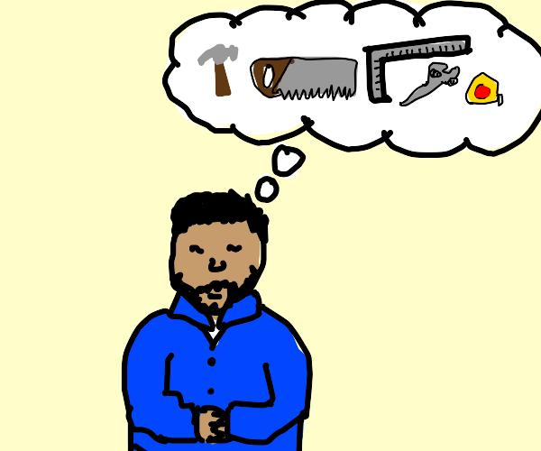 man has tools on his mind
