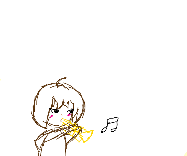 cute girl plays the trumpet 4 u