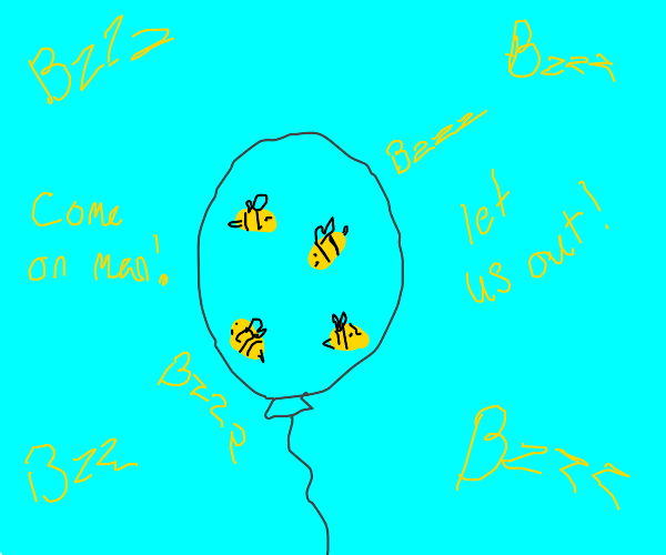 Bees in balloon
