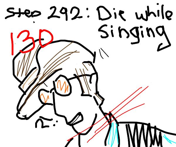 step 291: sarcastically sing stayin alive