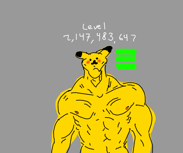 Level 2,147,483,647 Pikachu