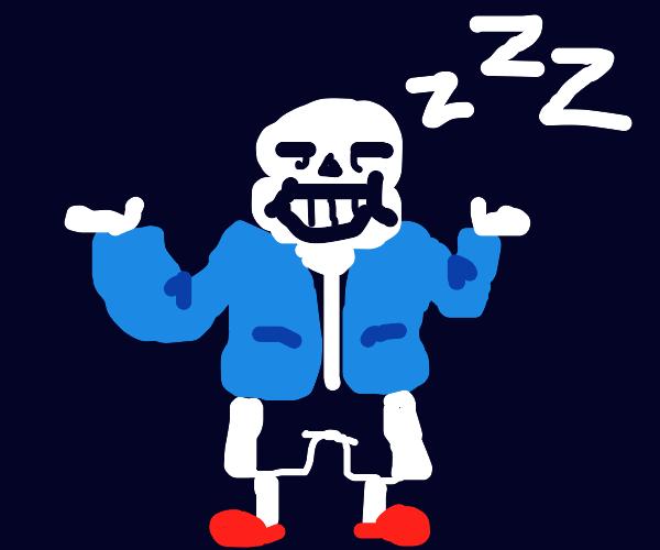 Sans sleeping