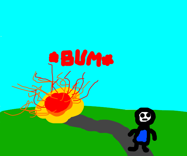 Walking away from an explosion looking cool