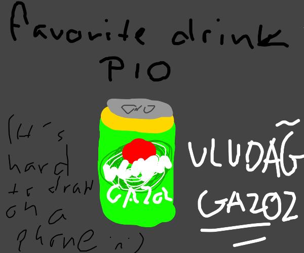 Favorite soda P.I.O (CherryDr. pepper for me)